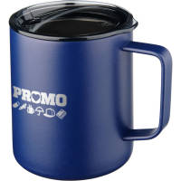 Corporate Branded Rover Copper Vacuum Insulated Mug in Navy Blue from Total Merchandise