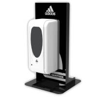 Custom Printed Desktop Hand Sanitiser Dispensers in Black from Total Merchandise