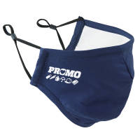 Custom branded Adjustable 3 Layer Face Mask in navy available from Total Merchandise