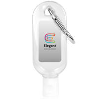 Branded 30ml Hand Sanitiser with Clip Printed with your Company Logo from Total Merchandise