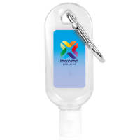 Promotional 50ml Hand Sanitiser with Clip Printed with your Company Logo from Total Merchandise