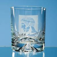 Clear Custom Engraved 260ml Dimple Base Whisky Tumblers by Total Merchandise