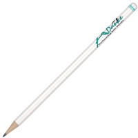 Promotional Hibernia Antibacterial Pencil in White with your Company Branding by Total Merchandise
