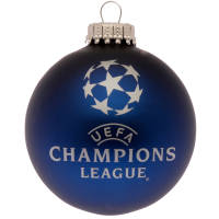 Customised Glass Christmas Baubles in Matt Blue with your Company Logo from Total Merchandise
