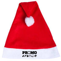 Promotional Santa Hat in red with logo branding by Total Merchandise