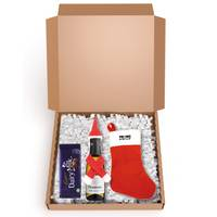 Custom Printed Mailable Christmas Hamper Boxes with your Company logo from Total Merchandise