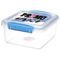 Promotional Sistema Lunch Box With Cutlery in Clear/Blue Colour by Total Merchandise