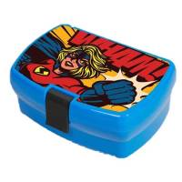 Promotional Lunch Box with Clip in blue colour and your logo on top by Total Merchandise