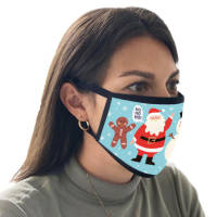 Branded Christmas Face Coverings Printed with Festive Designs from Total Merchandise