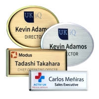 Promotional Excel Staff Name Badges in a choice of colours and shapes by Total Merchandise
