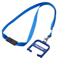 Promotional Hygiene Handle with Lanyard in royal blue colour with logo by Total Merchandise