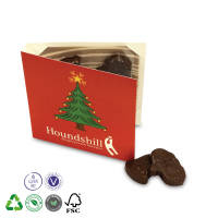Promotional Chocolate Christmas Cards Printed with your festive message by Total Merchandise
