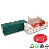 Open printed Trio Lindor Chocolate Boxes with full colour print by Total Merchandise
