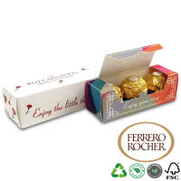 Branded Trio Ferrero Chocolate Boxes with Ferrero Rocher chocolates printed by Total Merchandise