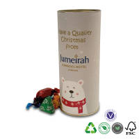 Promotional Large Eco Sweet Tubes filled with a choice of chocolates by Total Merchandise