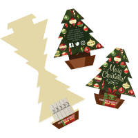 Full colour printed Christmas Tree Seed Sticks with festive design by Total Merchandise