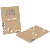 Promotional Large Kraft Seed Envelopes in natural colour with branding by Total Merchandise