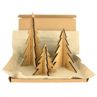 Customised Moso Bamboo Christmas Tree Decoration Sets with your logo by Total Merchandise