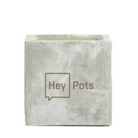 Promotional Concrete Vegan Candles in Rock colour with branding by Total Merchandise