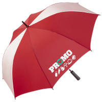 Promotional Glow In The Dark Umbrellas in Red colour with company logo by Total Merchandise