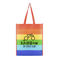 Promotional Rainbow Shopper Bag printed with your corporate design by Total Merchandise