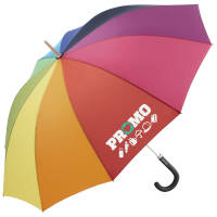 Promotional Rainbow Umbrellas printed with your logo by Total Merchandise