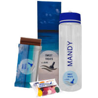 Promotional AquaMax Hydrate Water Bottle Gift Set printed with your logo by Total Merchandise