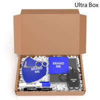 Promotional Hygiene Stay Safe Gift Boxes with items printed with your logo by Total Merchandise