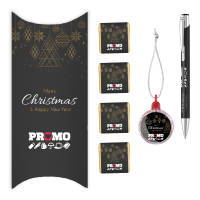 Promotional Mood Pen Christmas Packs with full colour printed pen and chocolate by Total Merchandise