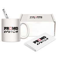 Custom printed Electra-Vienna Mug Gift Set with your company logo by Total Merchandise
