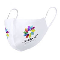 Branded Double Layer Full Colour Shaped Face Masks with your company logo by Total Merchandise