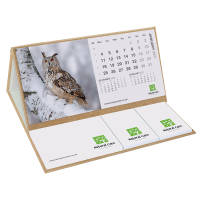 Eco Friendly Smart Calendar Pod in Natural colour printed with a logo by Total Merchandise