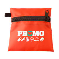 Promotional Face Mask Case Keyrings in Red printed with your logo by Total Merchandise
