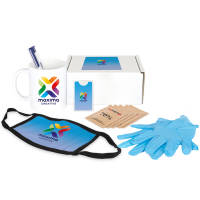 Branded Hygiene Gift Box with Printed Hygiene Essentials in a Branded Box by Total Merchandise