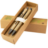 Promotional Bambowie Pen & Pencil Sets engraved with your company logo by Total Merchandise