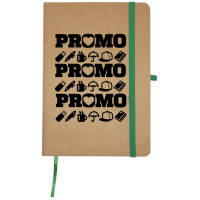 Branded Sorrel Natural Card Notebooks in Natural/Green printed with your logo by Total Merchandise