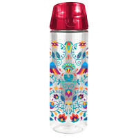 Promotional Vegas Tritan Water Bottles in Clear/Red printed with your logo by Total Merchandise