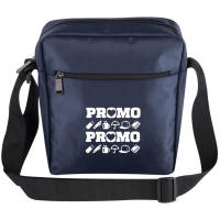 Promotional Messenger Bags in blue with adjustable strap by Total Merchandise