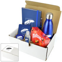 Custom Printed Premium Corporate Gift Packs in Blue with your Company Logo from Total Merchandise
