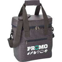 Promotional PU Cooler Bag in Grey printed with your logo in multiple positions by Total Merchandise