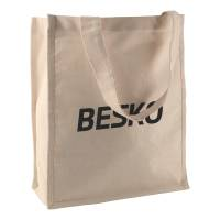 Promotional Heavyweight Cotton Shopper Bag in natural printed with your logo by Total Merchandise