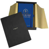 Customised Matra Notebook Gift Set with branding to the front cover available from Total Merchandise
