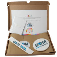 Branded Eco Work From Home Gift Sets with contents printed with a company logo by Total Merchandise
