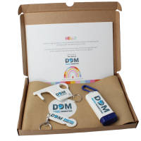 Promotional Antimicrobial Gift Sets with branded items printed with a logo by Total Merchandise