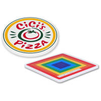 Promotional Deluxe Coasters in square or circle shape with full colour print by Total Merchandise