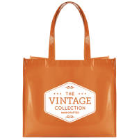 Promotional Laminated Coloured Shopper Bags in amber printed with a logo by Total Merchandise