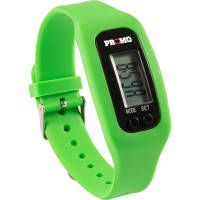 Promotional Silicone Wristband Pedometers for tracking steps and calories by Total Merchandise