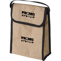 Promotional Paper Cooler Bags in Brown printed with logo in 2 positions by Total Merchandise