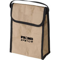 Promotional Paper Cooler Bags in Brown printed with logo in 1 positions by Total Merchandise