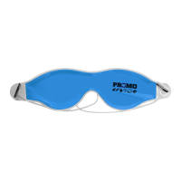 Promotional Cool Gel Eye Masks in light blue ready for printing by Total Merchandise